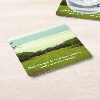 On the Fairway Square Paper Coaster
