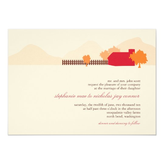 On The Farm Wedding Invitation