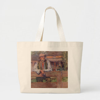 On The Fence Large Tote Bag