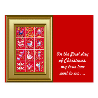 On the first day of Christmas my true love sent .. Postcard