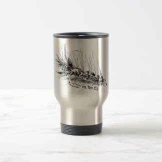 On  the Fly - Fisherman's Fishing Fly Travel Mug