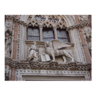 On the front of the Doges Palace, St. Mark's Squar Postcard