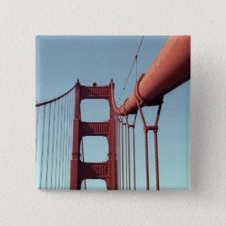 On The Golden Gate Bridge 15 Cm Square Badge