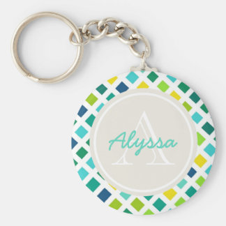 On the Grid Basic Round Button Key Ring