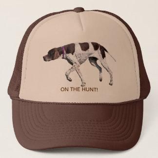 On the hunt English Pointer dog hat, gift idea Trucker Hat