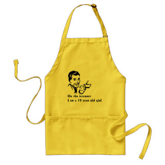 On The Internet Im A 15 Year Old Girl Standard Apron