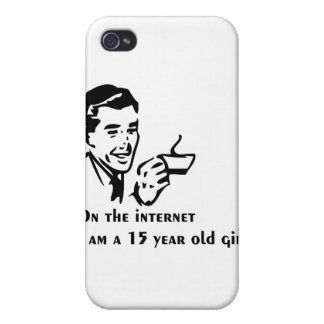 On The Internet Im A 15 Year Old Girl Case For iPhone 4