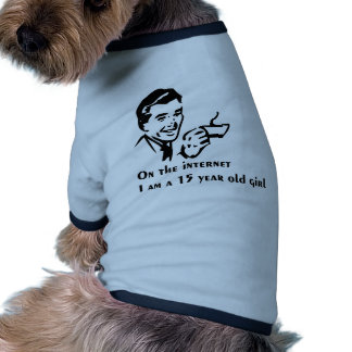 On The Internet Im A 15 Year Old Girl Ringer Dog Shirt