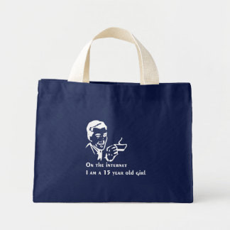 On The Internet Im A 15 Year Old Girl Mini Tote Bag