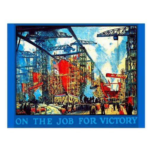 On the Job - Postcard