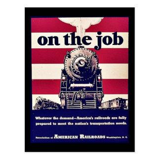 On The Job Post Card