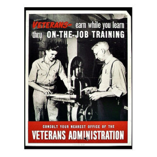 On The Job Training Postcards