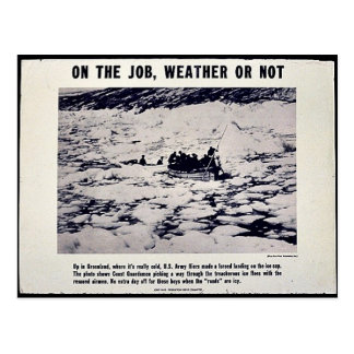 On The Job, Weather Or Not Postcard