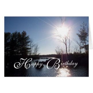 On the Lake Happy Birthday Dad Greeting Card