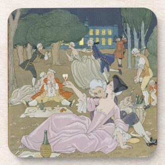 On the Lawn, illustration for 'Fetes Galantes' by Coasters