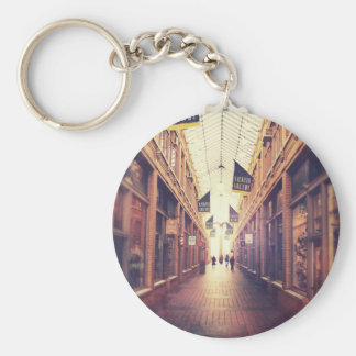 On The Mall Basic Round Button Key Ring
