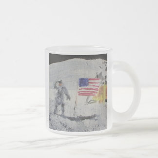 On the Moon Frosted Glass Coffee Mug