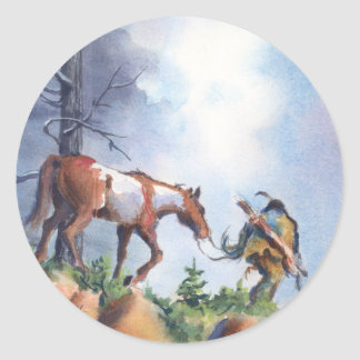 ON THE MOVE by SHARON SHARPE Classic Round Sticker