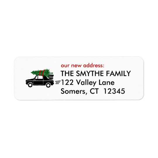 On The Move, Holiday Return Address Label