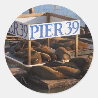 On the Pier Round Sticker