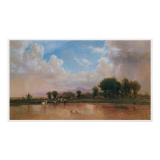 On the Plains, Cache la Poudre River, 1865 Poster