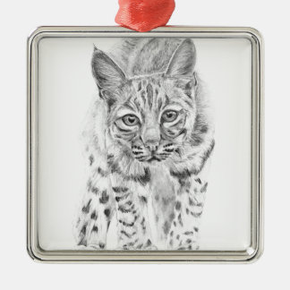 On the Prowl A Young Bobcat Metal Ornament