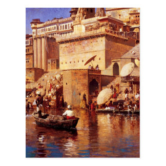On The River Benares by Edwin Lord Weeks Postcard
