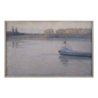 On the River, Morning, 1896 Poster