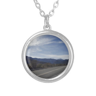 on the road to mt charleston nv silver plated necklace
