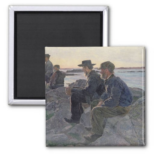 On the Rocks at Fiskebackskil, 1905-6 Refrigerator Magnet