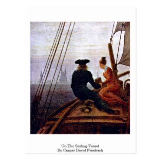 On The Sailing-Vessel By Caspar David Friedrich Postcard