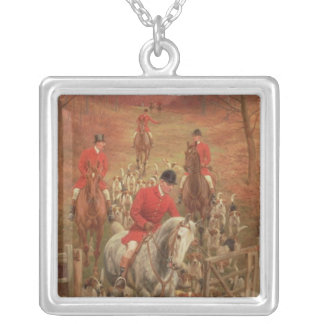 On the Scent, 1906 Silver Plated Necklace