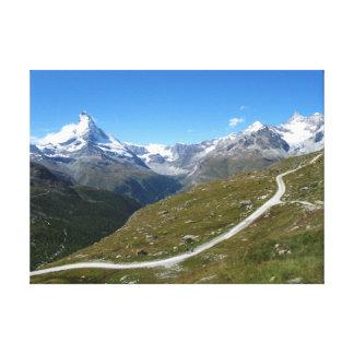 On the trail, Matterhorn View, Swiss Alps Canvas Print