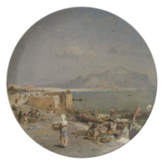On The Waterfront at Palermo by Franz Unterberger Plates