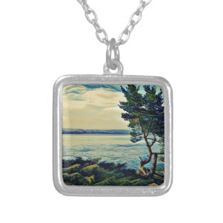 on the way to St Joseph Silver Plated Necklace