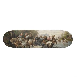 On the Way to the Horse Fair 20.6 Cm Skateboard Deck