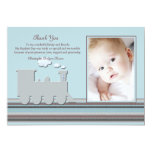 On Track Blue Photo Thank You Card Personalized Announcements