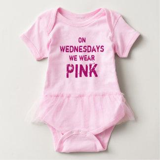 On Wednesdays We Wear Pink Baby Tutu Bodysuit