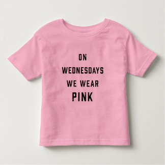 On Wednesdays We Wear Pink | Vintage Toddler T-Shirt