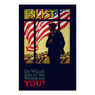 On which side of the window are you? - WW1 Poster