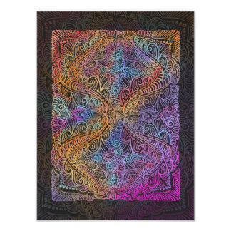 On winding rainbow of time, new age pattern. photo print