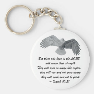On wings like Eagles - Is 40:31 Key Ring