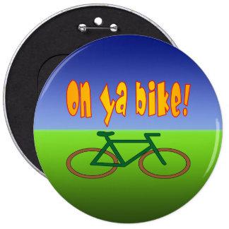 On Ya Bike Cycling Go Green Zero Emissions Pin