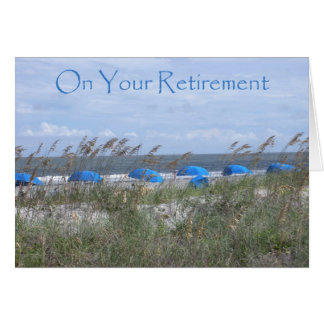 On Your Retirement Doctor - Beach and Umbrellas Greeting Card