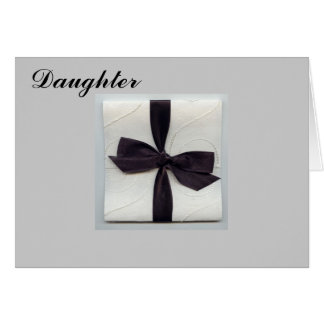 "ON YOUR WEDDING DAY ""DAUGHTER"" CARD"