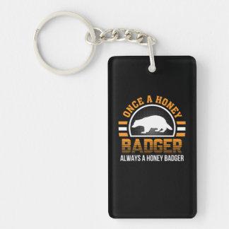Once Honey Badger Always Honey Badger Key Ring