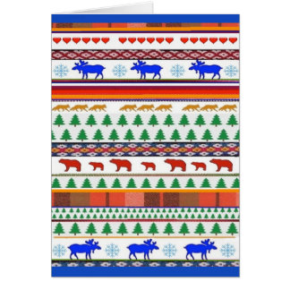Once in a Blue Moose and Friends - Greeting Card