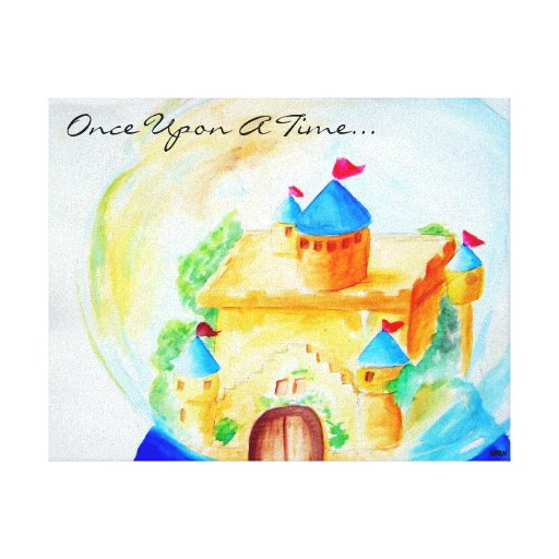 Once Upon A Snow Globe Canvas Prints
