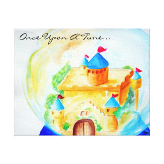 Once Upon A Snow Globe Stretched Canvas Print