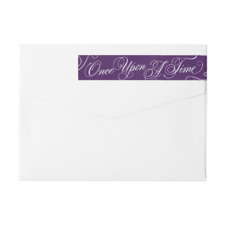 Once Upon A Time Address Labels in Royal Purple